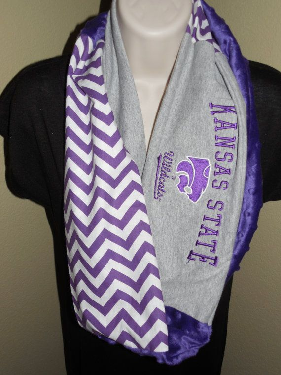 Kansas State Wildcats Infinity Scarf by JerseyMagic on Etsy, $25.00