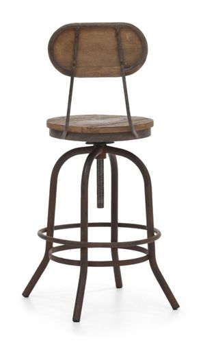 Industrial Counter Stool (with Back) - Taramundi Furniture & Home Decor