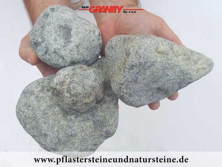 Ziersteine / Gerundete (getrommelte) Steine aus Serpentin - Serpentinit (trocken) für Gabionen