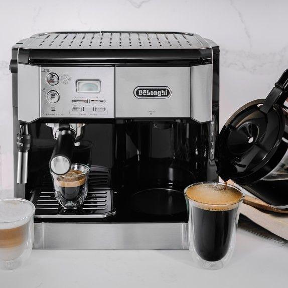 Delonghi All In One Combination Espresso Amp Coffee Maker Williamssonoma Espresso Coffee Maker Espresso Machine