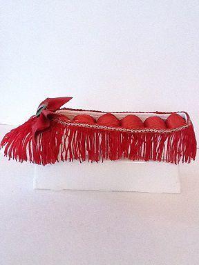 Soulier porte-bijoux effiloché rosse  No. 0671