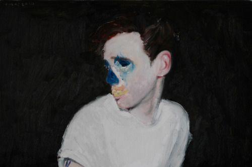 Blue nose, 2010. 40 x 60 cm. Oil on canvas