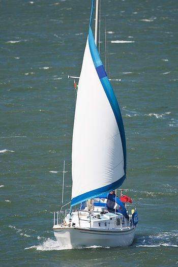 The Westerly Berwick yacht 'Marduck' sailing in the Solent.