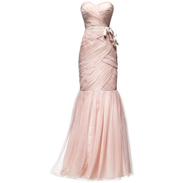 The Pale Pink Bridesmaid Dresses You Could TOTALLY Wear as Your... ❤ liked on Polyvore featuring dresses, gowns, long dresses, vestidos and wedding