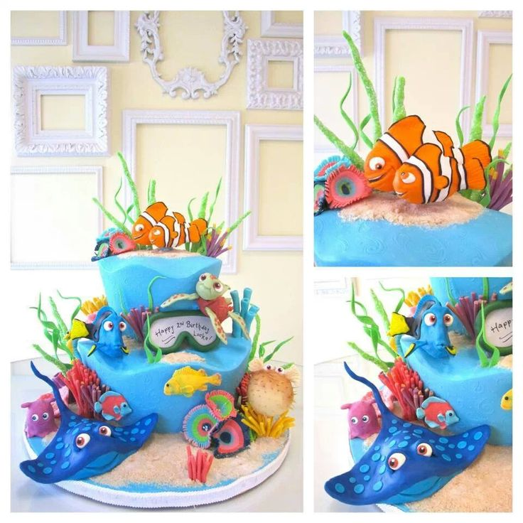 Finding nemo birthday cake by a wish and a whisk bakery for Finding nemo bathroom ideas