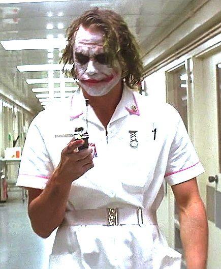 batman the joker nurses heath ledger batman the dark