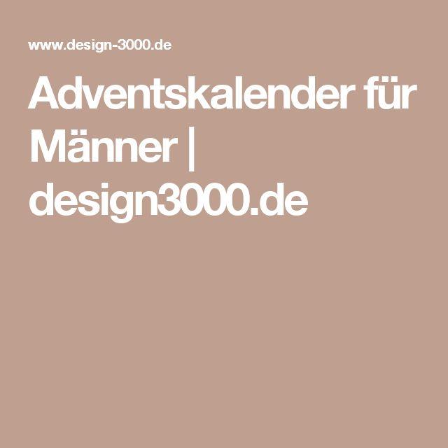 Adventskalender für Männer   design3000.de
