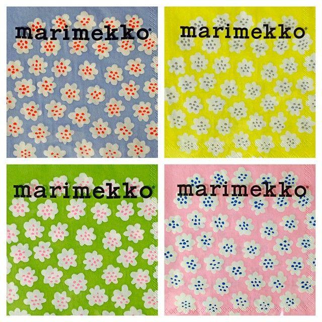 Puketti Paper Cocktail Napkins, Kiitos Marimekko