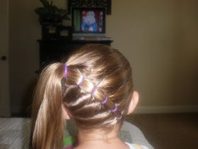 When I did my girlie's hair like this - we ran to Maverick to get a redbox. A scary looking & intimidating man approached me & says hi. her ...