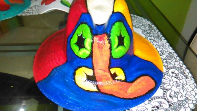 Sombrero marimonda pintado