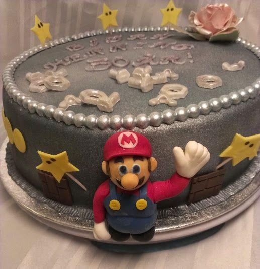 Mario cake SuperMario whatch at: https://www.facebook.com/pages/Mycake/518427724909847