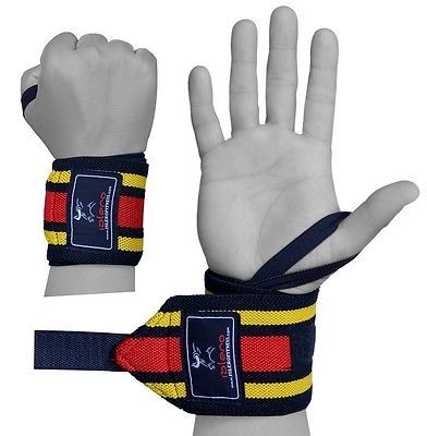 """Islero fitness weight #lifting wrist #straps support wraps 18"""" gym #bodybuilding ,  View more on the LINK: http://www.zeppy.io/product/gb/2/291619439131/"""