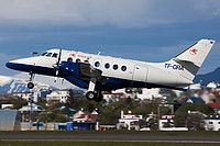 Eagle Air of Iceland (Arnarflug) British Aerospace BAe-3201 Jetstream Super 31 TF-ORA aircraft, on short finals to Iceland Keflavik  International Airport. 14/06/2015.