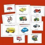 Recursos para el aula: Fichas de medios de transporte