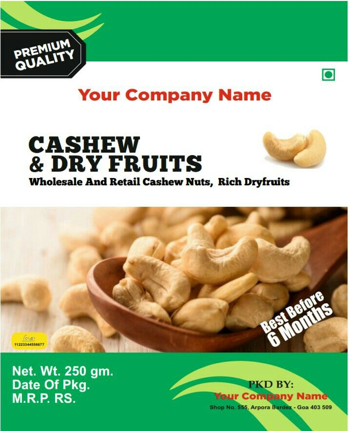 Pin by Cool Print on cashew nut lable | Beans, Vegetables, Food
