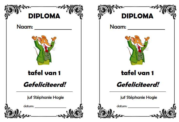 Gietjes Corner: Diploma's voor de tafels