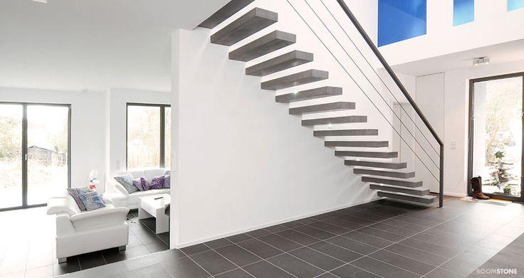 roomstone exklusives aus sichtbeton freitragende. Black Bedroom Furniture Sets. Home Design Ideas