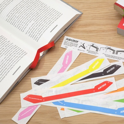 The Albatros Bookmark, created by London based product designer Oscar Lhermitte,  is a brand new kind of bookmark that follows your reading. There is no need anymore to remember the page number of the book you are reading. The Albatros is a clever bookmark tool that each time you turn a page, inserts itself at the right place. Watch video.