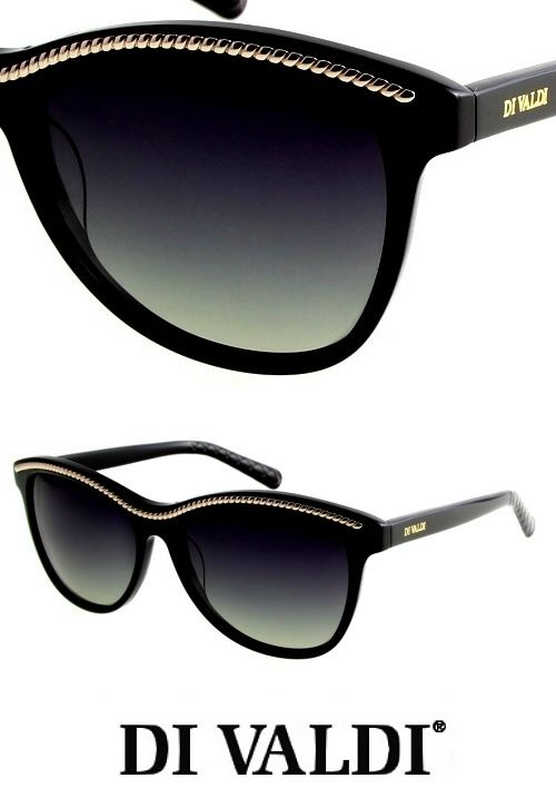 Black and gold stylish cat eye sunglasses from DiValdi. Find these and many other styles on StayAmazing.com now!
