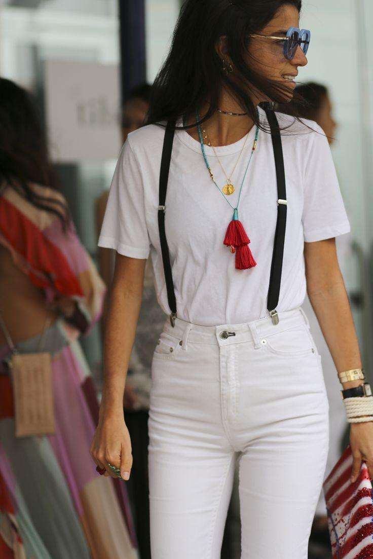 skinny suspenders + tassel + color...