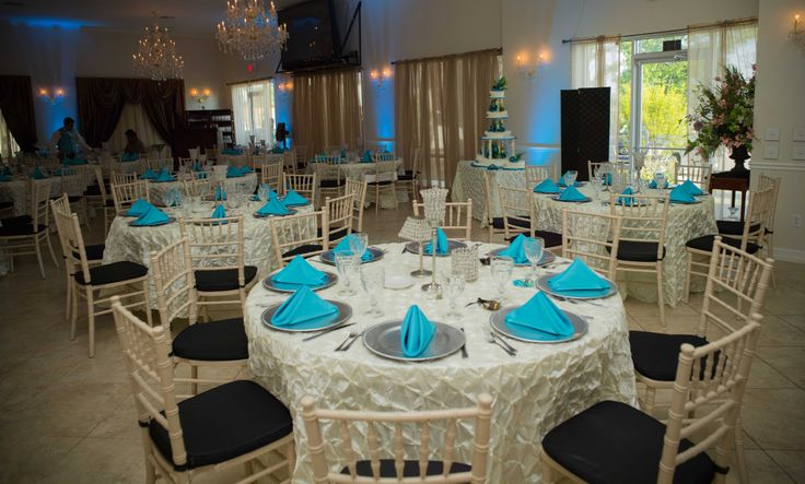 Blue Napkin With Ivory Tablecloth