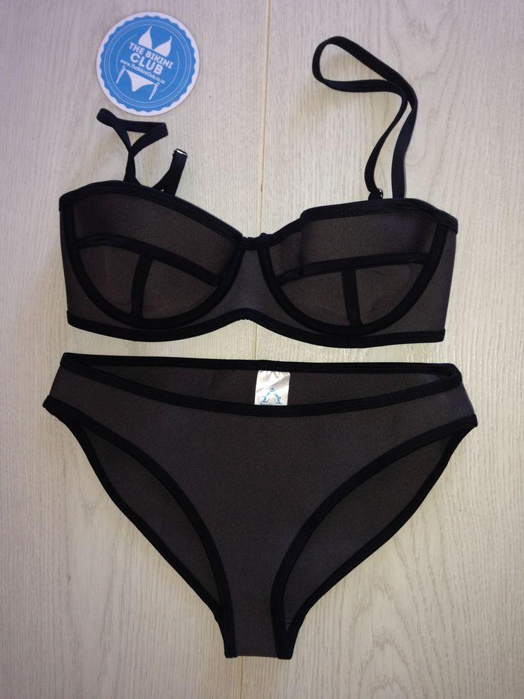 Grey Neoprene Bikini - Available at www.thebikiniclub.co.za (R300)