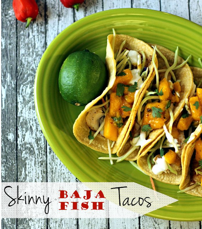 Skinny Baja Fish Tacos recipe | The Best Healthy Recipes. This recipe calls for canned Chipotle Peppers in Adobo Sauce, which can be found on the hispanic foods aisle.