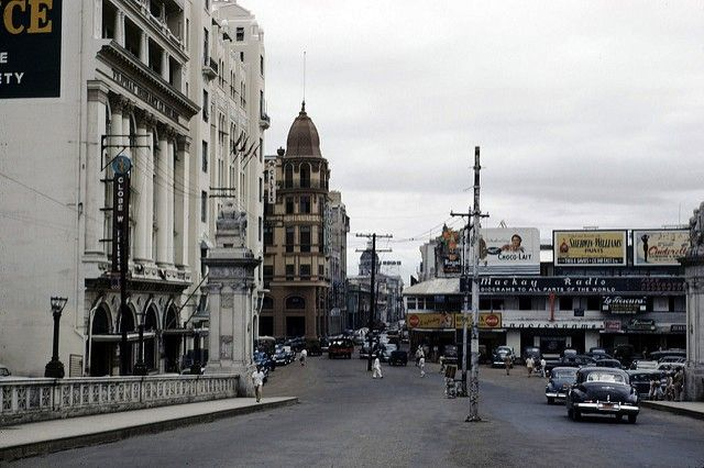 Plaza Moraga during the 1940s