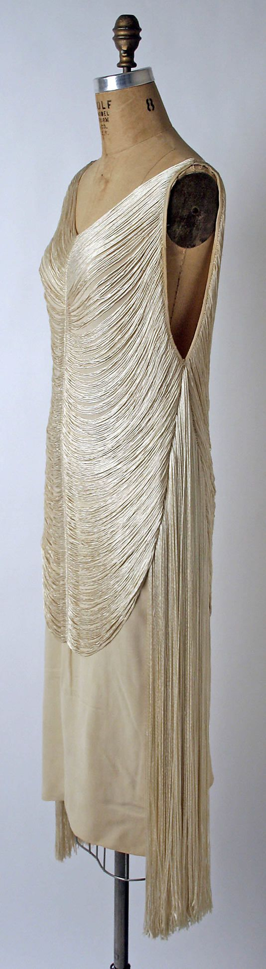 Evening dress Madeleine Vionnet  (French, Chilleurs-aux-Bois 1876–1975 Paris)   Maker: Sophie Gimbel (American) Date: 1925 Culture: American or European Medium: silk. Sideways