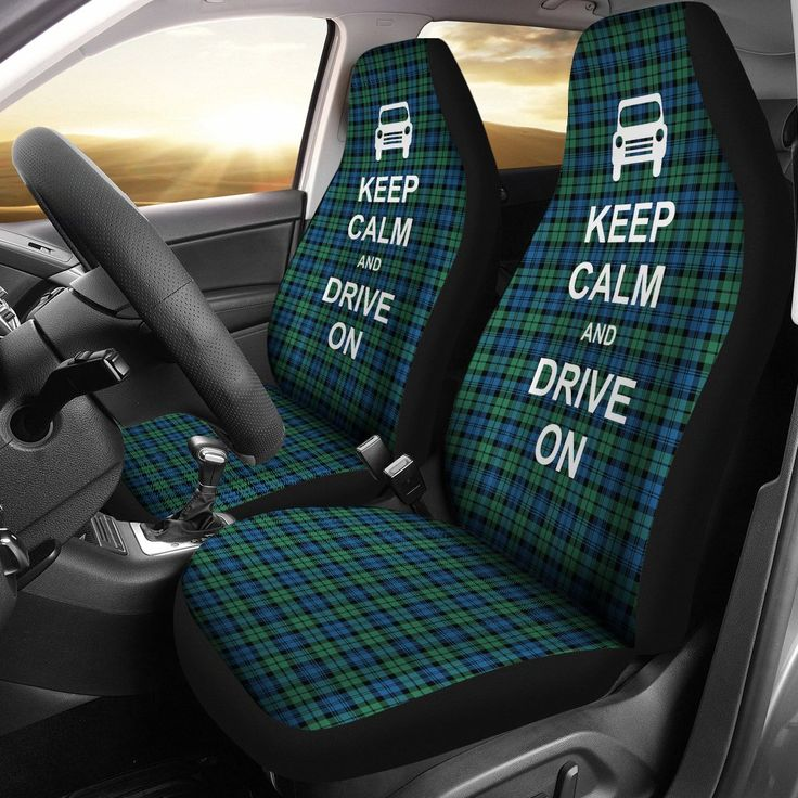 KEEP CALM - CAMPBELL TARTAN CAR SEAT COVERS S11