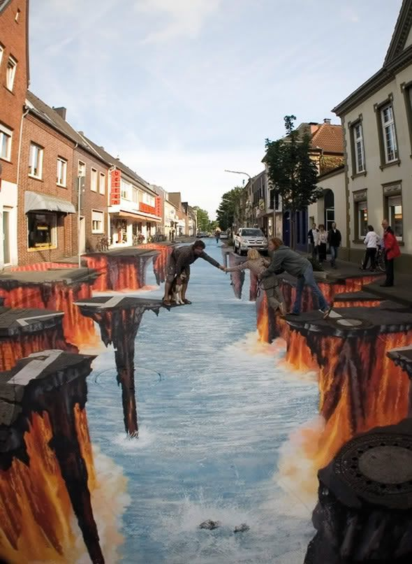 putting millions of 5 year old side walk chalk artists to shame