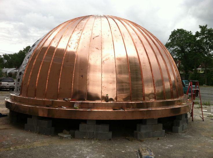 Metal Dome Garage : Wood trusses dome roof google search rotunda gazebo