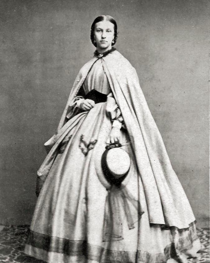 8 by 10 Civil War Photo Print Woman Lovely Dress, Cloak | eBay