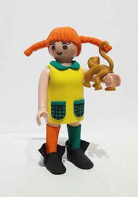FIGURA CUSTOM Pippi Langstrumpf - Pipi Calzaslargas con su mono - PLAYMOBIL