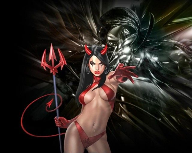 Girl Satan wallpapers and images - wallpapers, pictures, photos