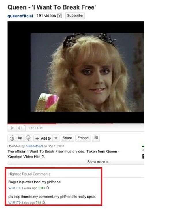 The 25 Worst YouTube Comments Ever (link)