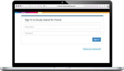 Study Island for Home - Login