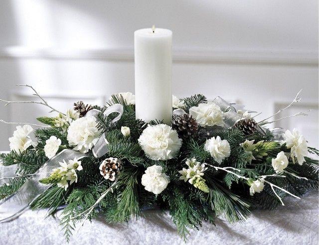 белые свечи на новый год