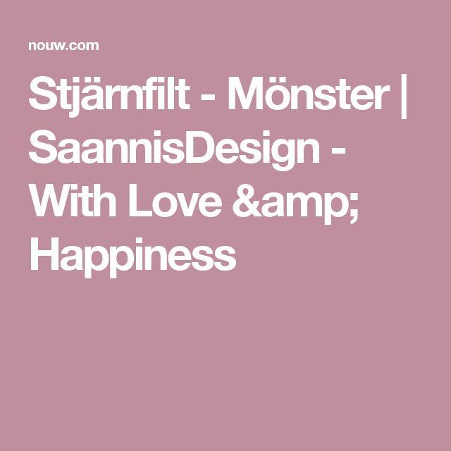 Stjärnfilt - Mönster | SaannisDesign - With Love & Happiness