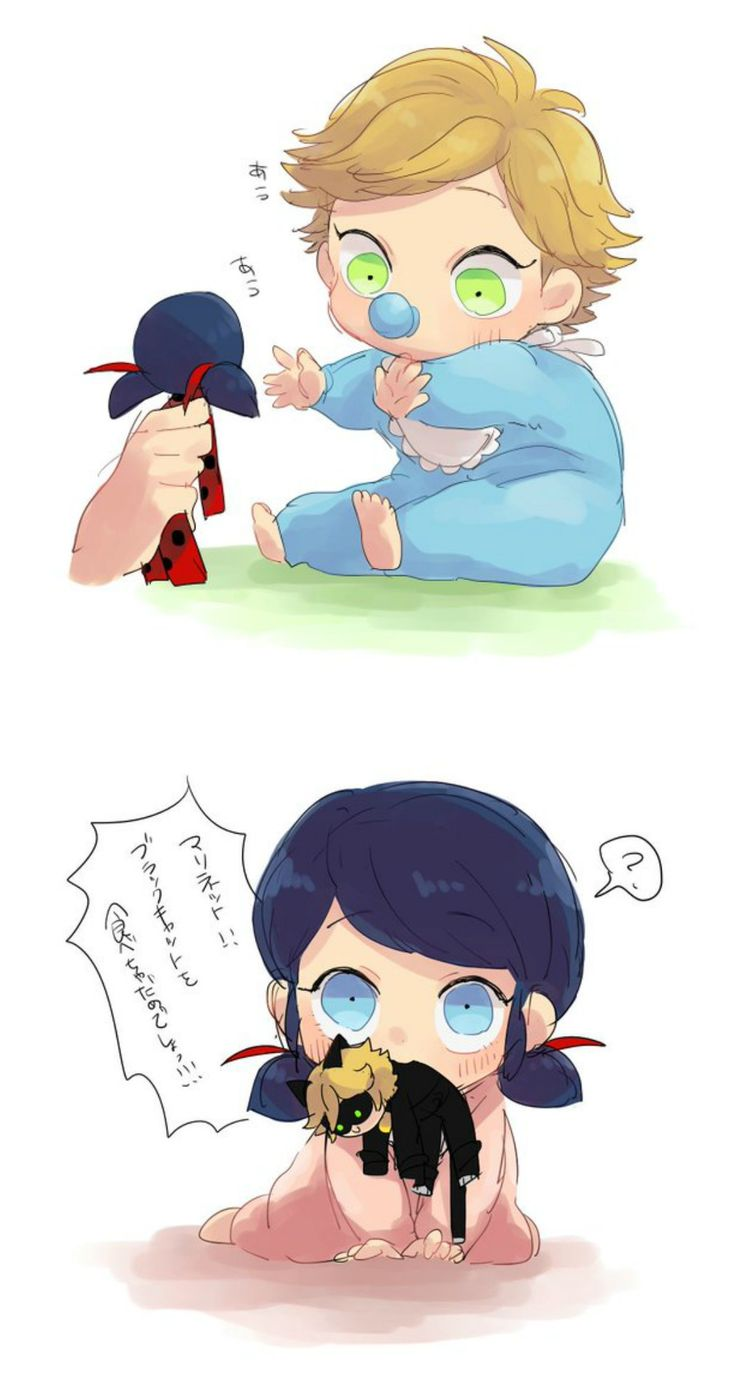 Aww Adrien's so cu- Ack no! Marinette! Spit him out! (Miraculous Ladybug, baby)