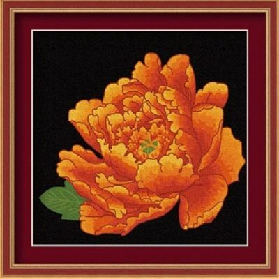 Mudan Peony Close Up Artistic Style Home Decor DIY Acrylic Oil Paint by Number Kit Art Mural Collection