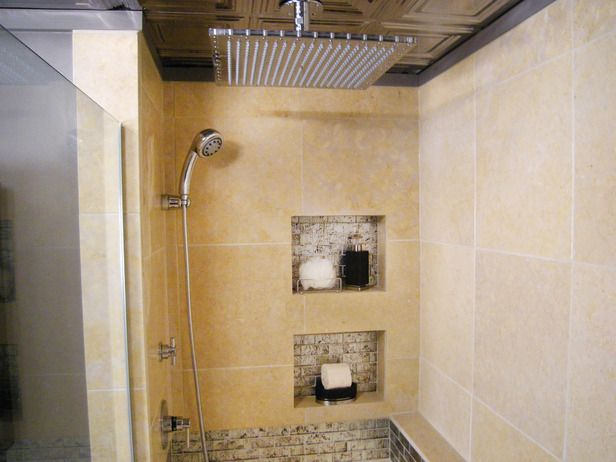 Rain Shower Head Myth In The Corner Rain Shower And Recessed Shelves