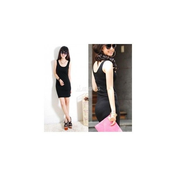 2014 New Fashion Women's Bodycon Sleeveless Long Tank T-Shirt Tops... (19 HKD) via Polyvore