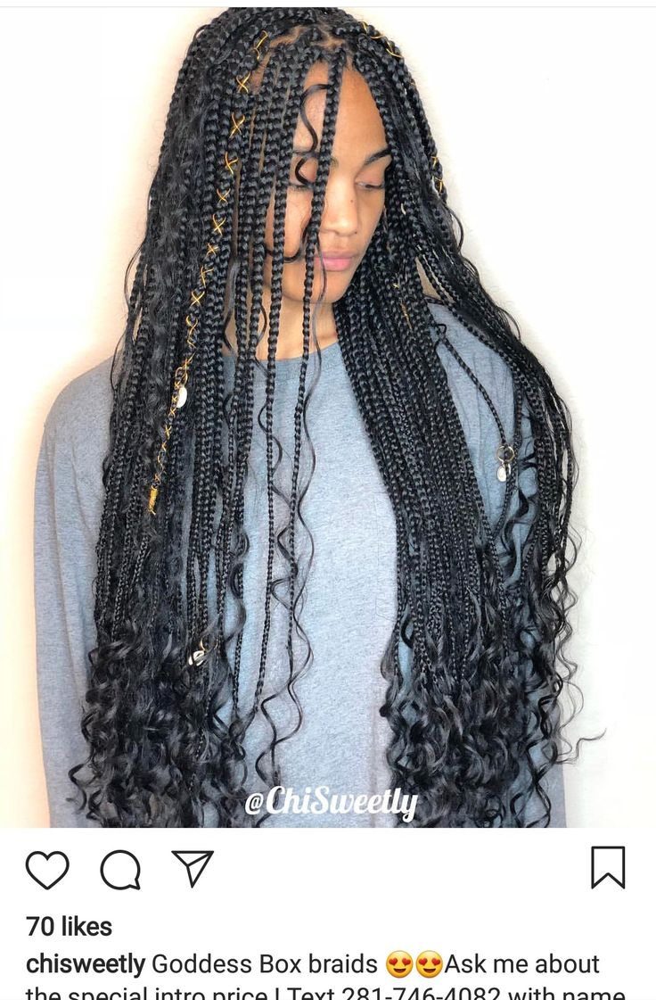 1/2 (@chisweetly Goddess braids) Hair used for braids: prestretched hair from OS…   – c u r l y ~ h a i r