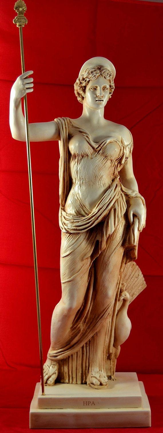 Hera juno greek statue women marriage goddess by marblecreations82