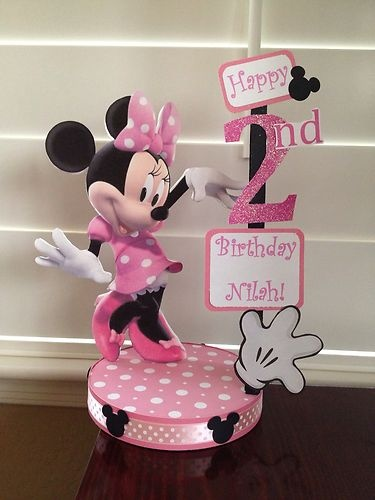 Minnie Mouse Custom Birthday Party Centerpiece | eBay