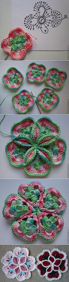 Объёмный цветок крючком - Ярмарка Мастеров - ручная работа, handmade