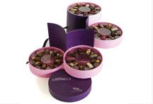 Four tier chocolate box packaging from Vosages