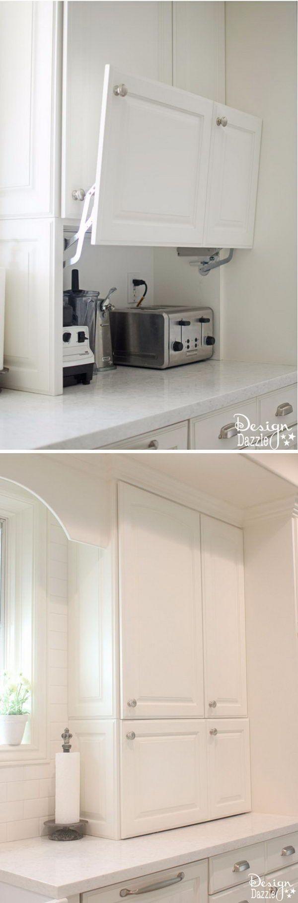 Best 25 hidden storage ideas on pinterest under cabinet for Hidden kitchen storage ideas