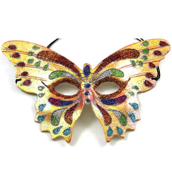 fantasy masquerade mask metal filigree Butterflies Black butterfly venetian mask Orange Orange Monarch Butterfly Whimsical Butterfly Mask